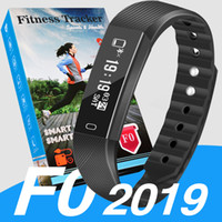 Wholesale step smart fitness watch for sale - Group buy 2019 ID115 F0 for apple Smart Bracelet watch Fitness Tracker Step Counter Activity Monitor Band Vibration Wristband pk fitbit xiao m3