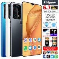 Wholesale Android phone Smartphones Goophone P40 Pro inch HD Full Screen G Lte Core GB GB Sim cards TF cards Face ID fast charging cheap