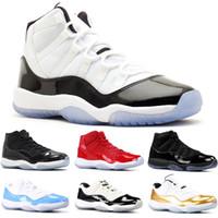 f46da0e0a043 2019 chaussures de basket-ball pour hommes 11s Concord 45 23 Platinum Tint  Prom Night gym rouge 11 Baskets baskets pour femmes taille 17-13