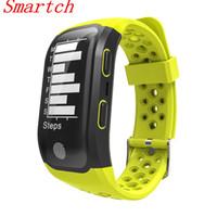 klettern armband großhandel-Smartch S908 Smart Band GPS Smartwatch IP68 Wasserdicht Herzfrequenz Fitness Tracker Smart Armband Schritte Schwimmen Reiten Klettern Modus