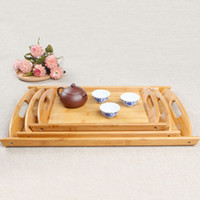 Food Fruit Storage Plate Bamboo Tea Cutlery Dishes Pallet Household Multi Function Decoration Hotel Serving Trays