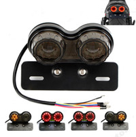 doppelschwanz groihandel-Retro LED Motorrad Twin Dual Heck Blinker Brems Nummernschild Integriertes Licht LED Rücklicht für ATVs r30