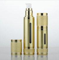 makeup airless pumpenbehälter großhandel-30 ml 50 ml Top Glitzernde Gold Silber Leere Vakuumpumpe Reise Flaschen Airless Makeup Hautpflege Container Verpackung