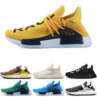 Wholesale art limited online - Limited Human race Hu trail x pharrell williams Nerd men running shoes white Equality mens trainers for women sports sneaker