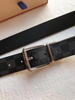 Wholesale big size belts for men for sale - Group buy belts for men big buckle belt top fashion mens belts business waistbands imports really leather fashion belts with box ceinture homme