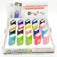 melhor isqueiro eletrônico venda por atacado-Recarregável cigarro eletrônico sem chama Isqueiro USB Eco-Friendly portátil mais leve também oferecem tocha de arco mais leve melhor