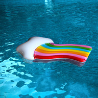 Wholesale pvc beds for sale - Single Person Popular Inflatable Floats Rainbow Clouds Adult PVC Floating Bed Summer Beach Fold Portable Thickening New Arrival dyI1