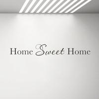 vinilos para sala familiar al por mayor-Hogar dulce hogar decoración de la pared calcomanía de vinilo pegatinas de pared cita sala de estar decoración extraíble familia etiqueta pegatina G493