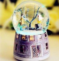 einstellungen für kristalle großhandel-Neue ++ + Kreative Einstellungen für die Music Box von Jimmy Meet Snowflake Crystal Ball