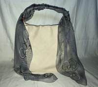 orden bufandas de seda al por mayor-pedido del cliente: fular estampado corazón Bufandas 110x110cm, 100% seda