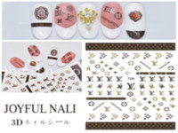 Wholesale fashion nails accessories for sale - Group buy Girl Classic Geometric Patterns Nail Art Manicure Gum Fashion Decals Luxury Accessories Stripe Exquisite High end Henna Decals Stickers