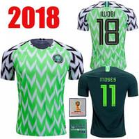 8f00a545e 2018 Nigeria Soccer Jerseys World Cup IWOBI SHEHU Home field Light green  man MIKEL 10 AHMED MUSA 7 2018 2019 uniform Football shirts Jerseys