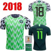 bechergröße für männer großhandel-2018 World Cup Iwobi Heim Auswärts Herren Größe XXL Fußball Trikots Iheanacho Musa Futbol T-Shirt National T-Shirt Trikot Kit Maillot Maglia Tops