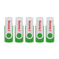 usb flash wood wholesale-Green 5PCS/LOT 1G 2G 4G 8G 16G 32G 64G Rotating USB Flash Drives Flash Pen Drive High Speed Memory Stick Storage for PC Laptop Macbook