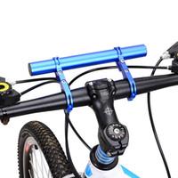 Wholesale light frame bikes for sale - Group buy 25 MM Bicycle Light Holder Handlebar Extender Cycling Bike Frame Double Extension Mount Holder