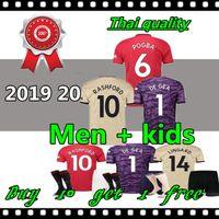 Wholesale thailand soccer kits resale online - Thailand FC manchester POGBA soccer jersey man utd football shirt united UtD uniforms man kids kit jerseys
