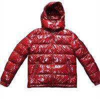 casacos asiáticos para homens venda por atacado-Mens Designer Casaco com capuz Outono Inverno corta-vento para baixo Grosso Luxo Hoodie Outwear Luminous Jackets Asiático Tamanho da Roupa Masculina