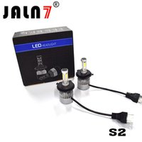 kit led blanco al por mayor-S2 72W 8000LM Faros de luz antiniebla LED Bombillas todo en uno Kit de conversión 6500K CSP COB Chips Super Bright White
