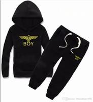 marca de suéter para niños al por mayor-Moda de primavera y otoño suéter de manga larga para niños marca niño niña traje ropa deportiva suéter ropa 2--8 años libre shipp