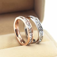 Wholesale geometric rings online - Female Girls Geometric Ring Sterling Silver Filled Rose Gold Ring Promise Wedding Engagement Rings For Women Best Gifts