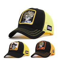 sombreros de gorras sombrillas al por mayor-Moda Anime Seven Dragon Ball Sun Wukong Gorra de béisbol de béisbol Sombrero de béisbol de verano Sombrilla Sombrero de sol Gorra de impresión bordada