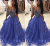 Wholesale hot sexy girls party dresses for sale - Group buy Sexy Black Girl Prom Dresses Off Shoulder Beads A Line Sweep Train Crystals Formal Party Evening Gowns Hot Special Occasion Dresses Vestidos