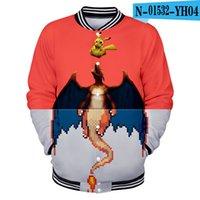 бейсбольный костюм оптовых-3D  Cartoon Funny Baseball Jacket Hoodies Women Men Sweat Sweatshirts Streetwear Harajuku Zipper Tracksuit