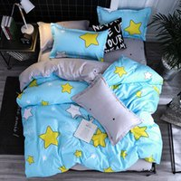 Wholesale blue double bedding sets for sale - Microfine Luxury Bed Clothes Queen Bedding Set White Double Bed Linen Twin Sheets And Pillowcases Pillow for Adults