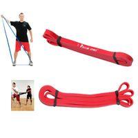 crossfit bande rouge achat en gros de-Latex Crossfit bandes de résistance fitness body gym power training powerlifting pull up rouge