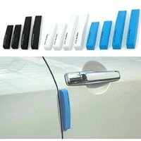 Wholesale car sill covers resale online - 4PCS Car Styling Door Sill Guard Car SUV Body Rear Bumper Protector Trim Cover Protective Strip Black blue white