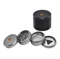 Wholesale end grinders resale online - High end Gift Box Smoke Grinder mm Aviation Aluminum Material Grinder