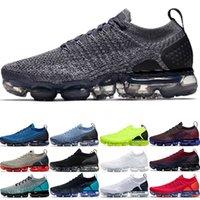 kadınlar için siyah iş ayakkabıları toptan satış-Nike Air Vapormax 2019 Xamropav 2.0 Erkek Kadın Koşu Ayakkabıları Üçlü Siyah Beyaz Olimpiyat Kırmızı Orbit Oreo Gri Çalışma Mavi Ucuz Yeni Eğitmen Spor Sneaker