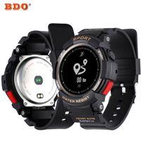 умные часы водонепроницаемые яблоко оптовых-F6 Smartwatch IP68 Waterproof Bluetooth Wristwatch Dynamic Heart Rate Monitor Bracelet Smart Watch For Android  Smart Phone