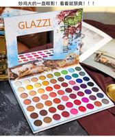 ingrosso palette colorate di trucco-Palette di ombretti colorati estivi 63 colori opachi luccicanti Miscelabile Ombretto luminoso Pallete Set di trucco pigmentato in polvere setosa