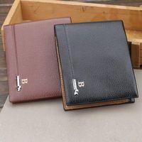 Wholesale sim card wallets resale online - Bifold Wallet for Men PU Leather Slim Card Holder Organzier Purse with SIM Slot LXX9