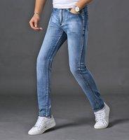 pantalones salvajes de los hombres al por mayor-Diseñador de los hombres pantalones vaqueros boutique de alta calidad de moda de lujo pantalones de vaquero Marca bordado verano Wild Private custom Pantalones Slim fit Lavado