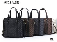 Wholesale free new laptops for sale - Group buy Hot New Europe and America Fashion Brand Retro Briefcase Men s Messenger Bag Brown Luxury Business Briefcase File Lawyer Laptop Bag Free Shi