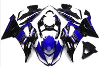 Wholesale blue ninja motorcycle zx6r for sale - Group buy 4Gifts New Injection ABS motorcycle fairings kits fit for kawasaki Ninja ZX6R ZX R set custom blue black