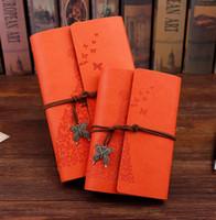 cadernos de garotas vintage venda por atacado-Caderno Diário de negócios meninas da beleza Pirata Âncora Decor Viajantes Cadernos Notepad Planejador do vintage do vintage PU Capa De Couro Em Branco Notebooks