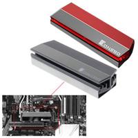 ssd katı hal sabit disk toptan satış-Alüminyum Alaşım M.2 SSD Soğutucu Katı Hal Sabit Disk Soğutucu Radyatör Isı Termal Dağılım Soğutma Pedleri