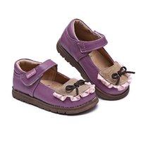 zapatos de niños de oxford al por mayor-Tipsietoes NIÑOS Primavera otoño niño rosa negro plano cuero genuino niño moda zapato bebé niña marca holgazán oxford