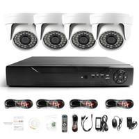 hd wasserdichtes sicherheitssystem großhandel-Überwachung HDMI 4CH AHD 1080N DVR HD Tag Nacht 1800TVL 24IR Wasserdichte Innenkamera CCTV Home Security Systems