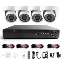 sistema de seguridad a prueba de agua hd al por mayor-Vigilancia HDMI 4CH AHD 1080N DVR HD Día Noche 1800TVL 24IR Cámara interior impermeable CCTV Sistemas de seguridad para el hogar