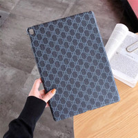 Wholesale luxury leather casing ipad mini resale online - For New iPad Luxury Designer Grid PU Leather Hard Case For Ipad pro ipad Air Fashion Brands G Back case Mini