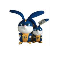 tavşan büyük doldurulmuş oyuncak toptan satış-18 cm Sevimli Yumuşak Büyük Uzun Kulaklar Tavşan Peluş Oyuncak Hayvanlar Dolması Bunny Oyuncaklar Bebek Çocuk Uyku Oyuncaklar Doğum Günü Yılbaşı Hediyeleri L149