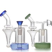 Wholesale toro water bongs for sale - Group buy Toro Glass Wax Bongs Recycler Water Pipes Bong mini perc smoking pipe with bowl quartz banger Oil Rigs Dab Heady Rig