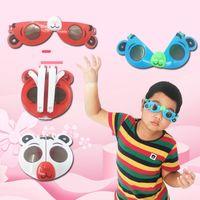 Wholesale multicolor girl sunglasses resale online - Cartoon Animal Model Children Sunglasses Folding Deformation Glasses Boys and Girls Small Toys Sun Glasses Toy Gift