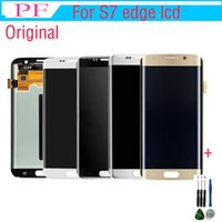 Wholesale cellphones parts for sale – best Original LCD For Samsung S7 Edge LCD Touch Screen Digitizer Display Assembly Cellphone Replacement Parts inch For G935A G935F G935P Tool