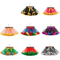 Wholesale tutu skirts girls colorful resale online - 14styles Halloween Baby Girl Tutu dress skirt sequin Kids Colorful Halloween Christmas Party Dress Child Girl Mesh Cake Skirt FFA2797