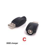 adaptateur usb evod achat en gros de-E Cig Chargeurs USB Ego sans fil pour Evod Twist Vision Spinner 510 808D Adaptateur de chargeur USB universel pour batterie Vape